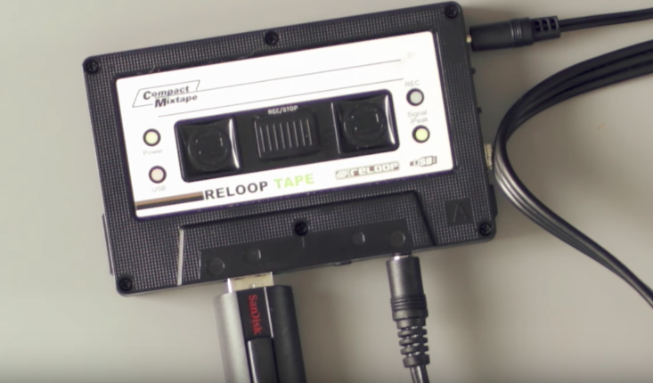 The Reloop Tape, portable solution for recording DJ mixes.