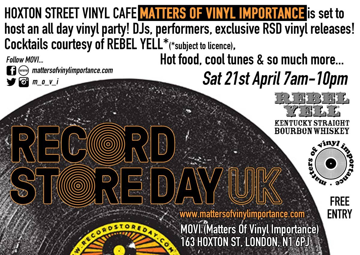 RECORD STORE DAY (UK) at MOVI London. Saturday 21st APRIL - ALL DAY EVENT! #scratcheverywhere