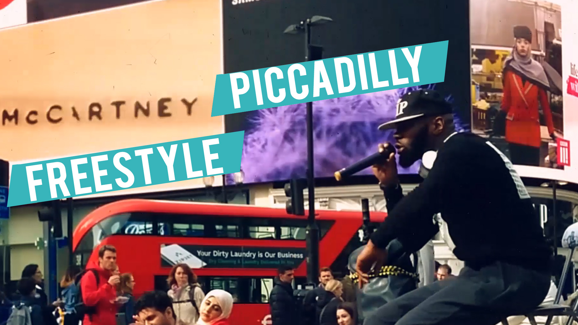 London Scratcheverywhere Freestyle: Dj Samy ft. Victorious1 (Piccadilly Circus)
